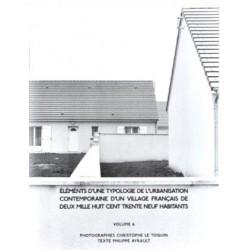 Christophe Le Toquin - éléments d'une typologie de l'urbanisation - Vol.6 (Auto-publié, 2015)