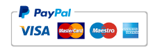 Paypal, Visa, Mastercard, AmEx, etc.